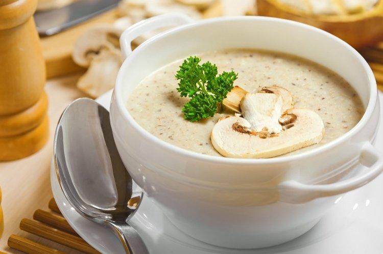 Крем-суп из шампиньонов со сливками рецепт с фото в мультиварке
