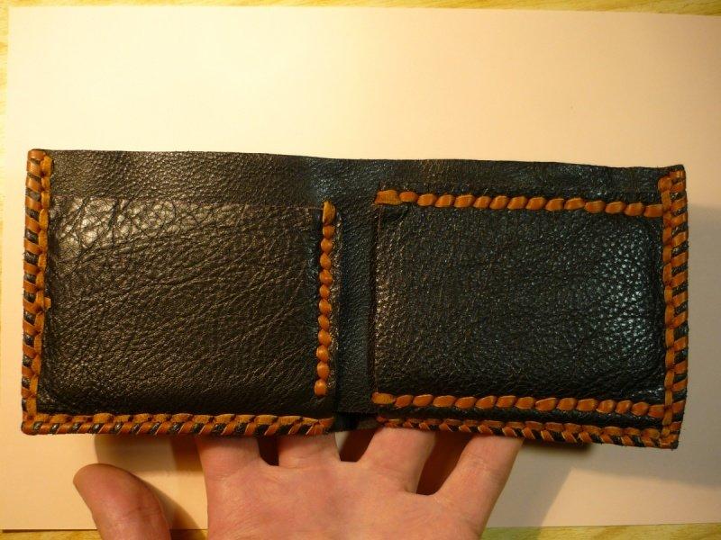 Простой кожаный кошелек своими руками 7