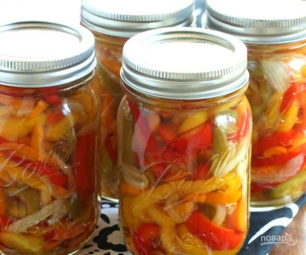 Рецепт на зиму салата из перца и риса на зиму