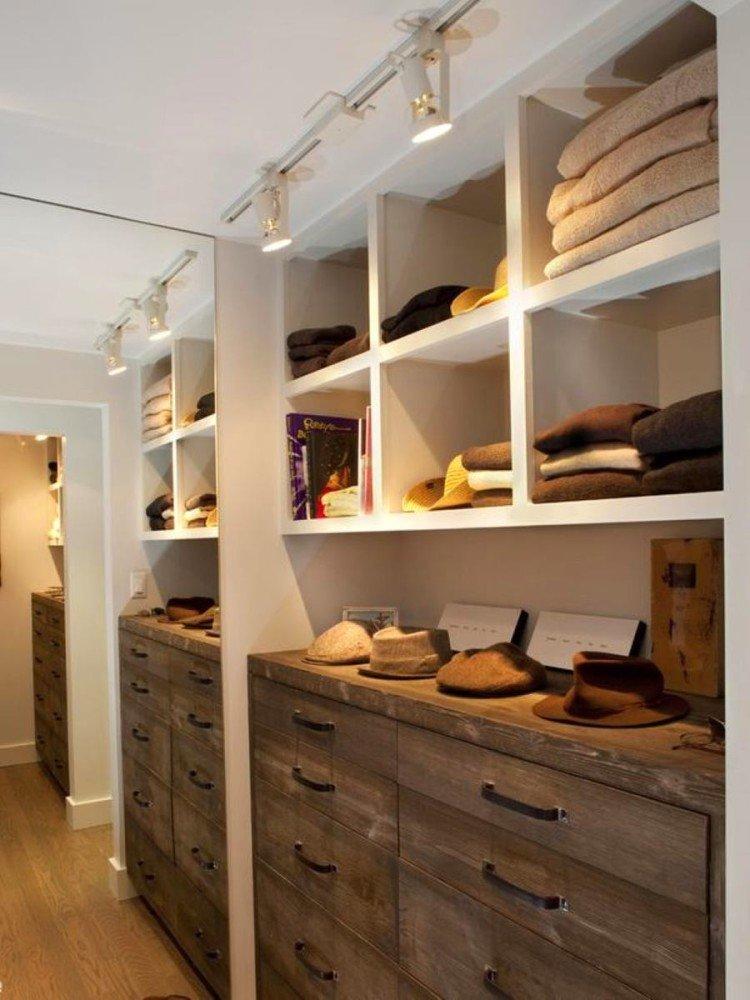 Полки в гардеробной фото