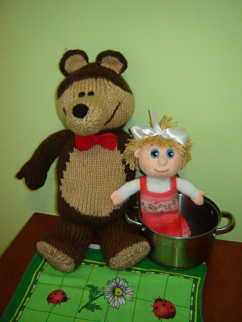 Маша и медведь своими руками поделка