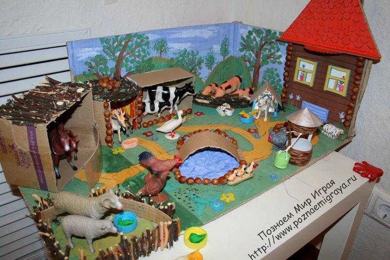 Макет детского сад своими руками