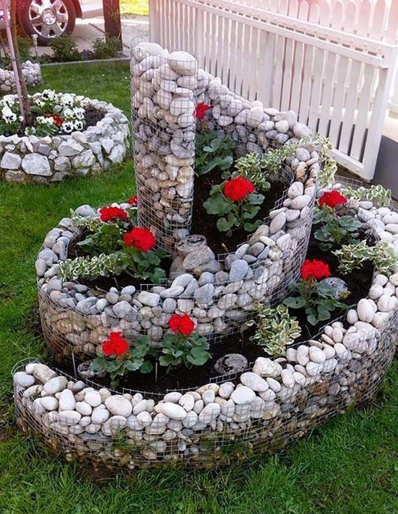 Клумба для цветов своими руками из камня фото