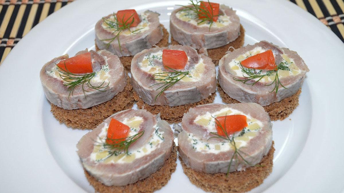 Бутербродики на праздничный стол рецепты