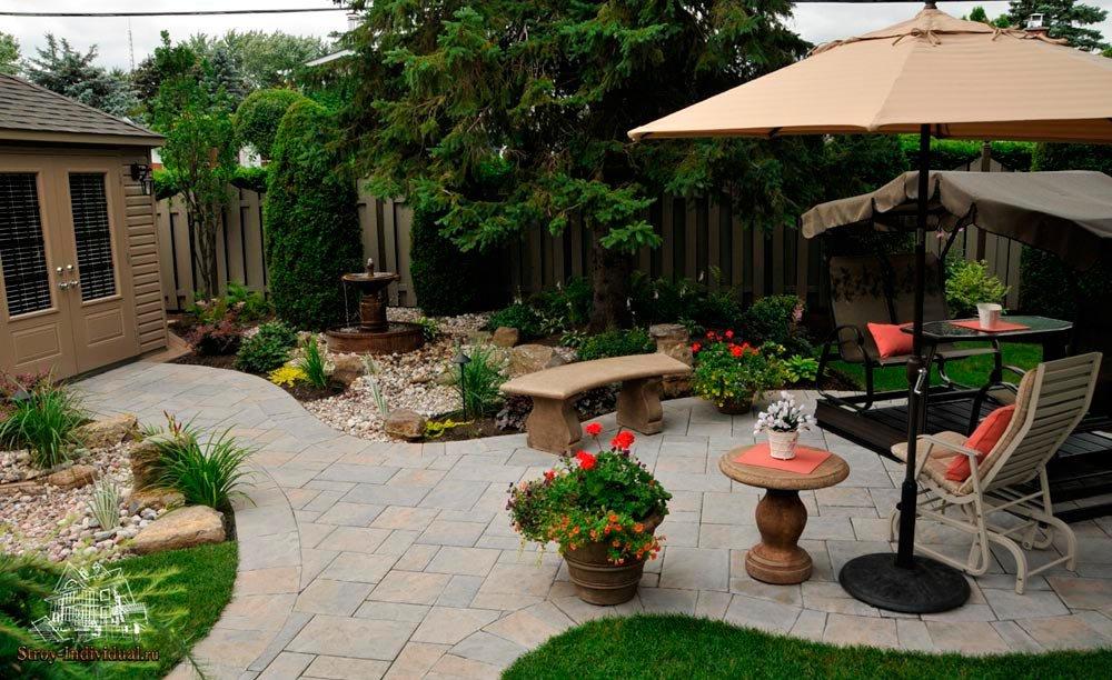 Как оформить двор частного дома своими руками