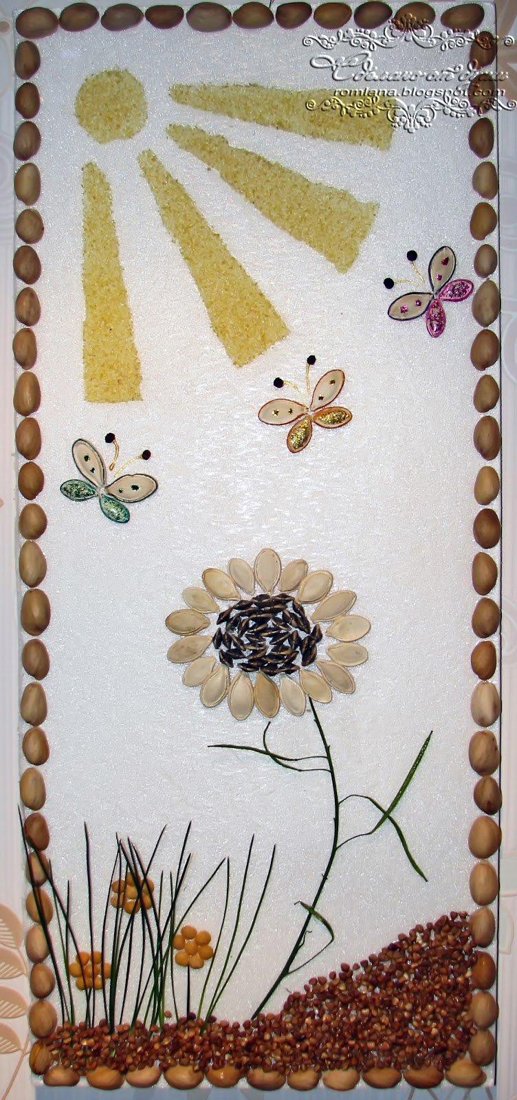Картина поделка из крупы на тему осень