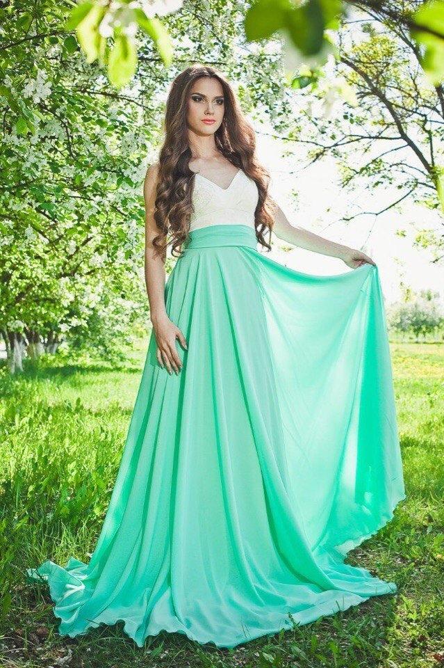 Платья полусолнце длинные
