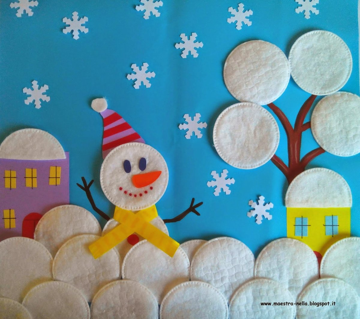 Детские поделки в детский сад на тему зима