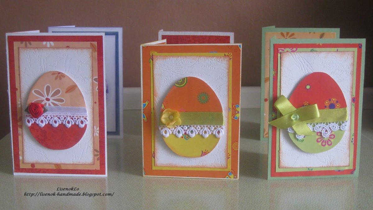 Пасхальные открытки своими руками. Открытки с Пасхой своими 69