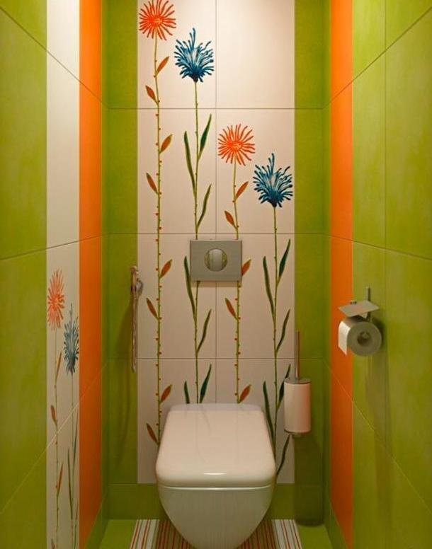 Идея для туалета 1 кв.м