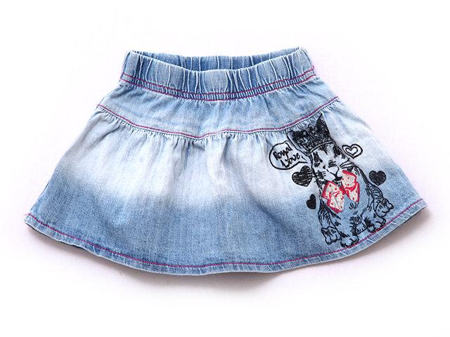Как сшить юбку для девочки из джинса 55