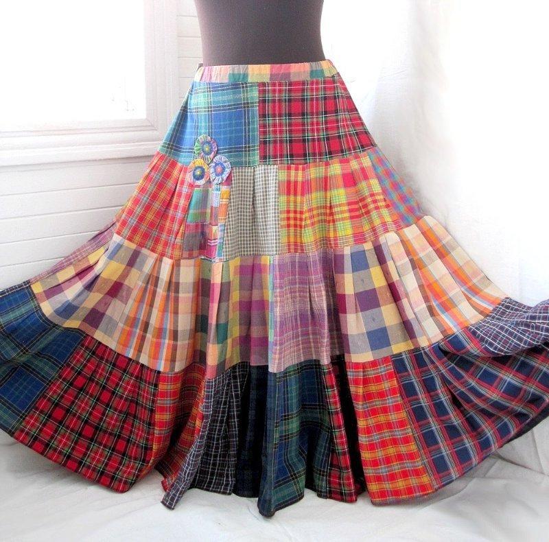 Как сшить юбку пэчворк