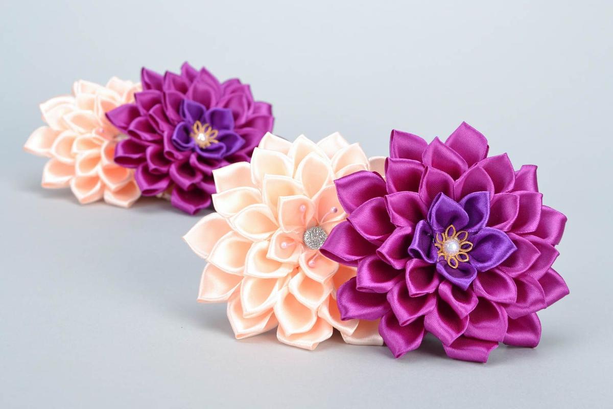 Цветок из атласных лент своими руками. Мастер-класс 30
