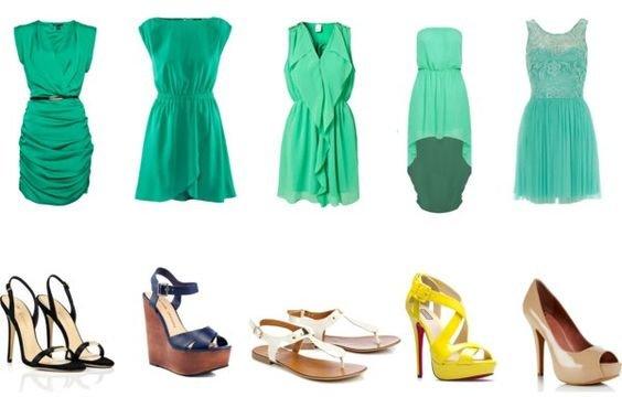 Платье мятное с чем носить