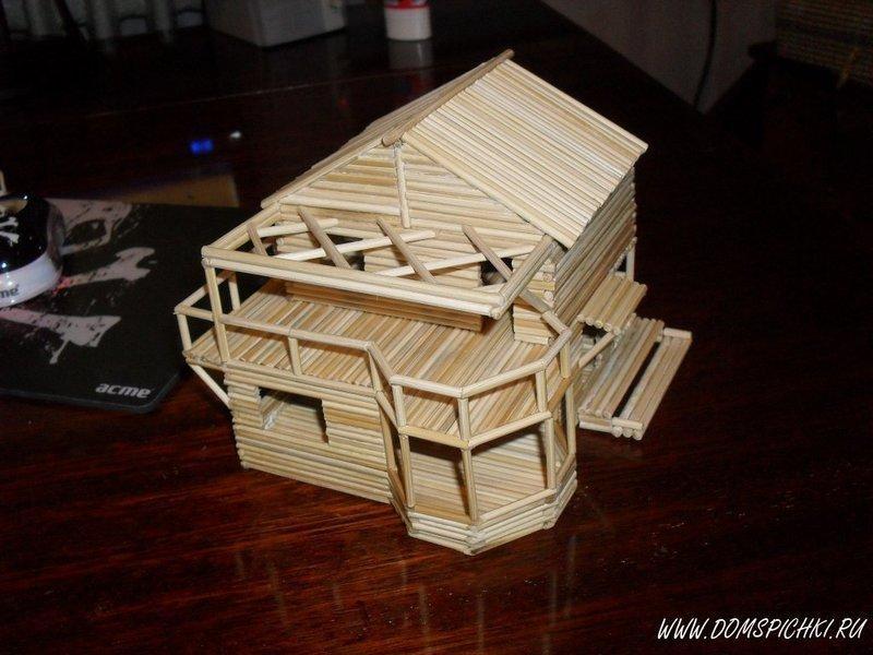Самый легкий домик из спичек своими руками