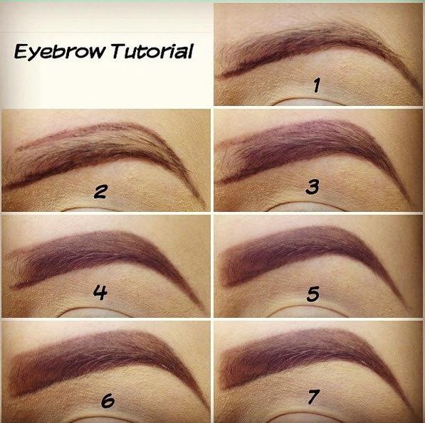 Как поэтапно рисовать брови карандашом поэтапно макияж для начинающих