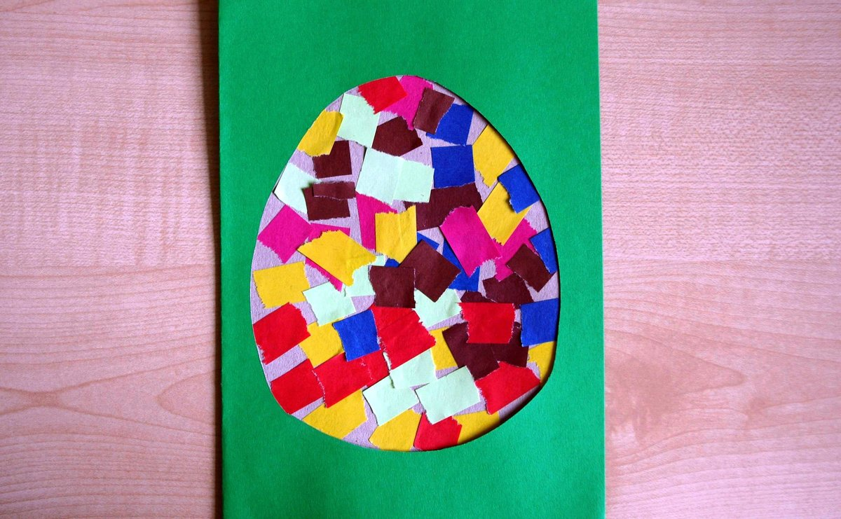 Детские поделки с цветной бумаги 21