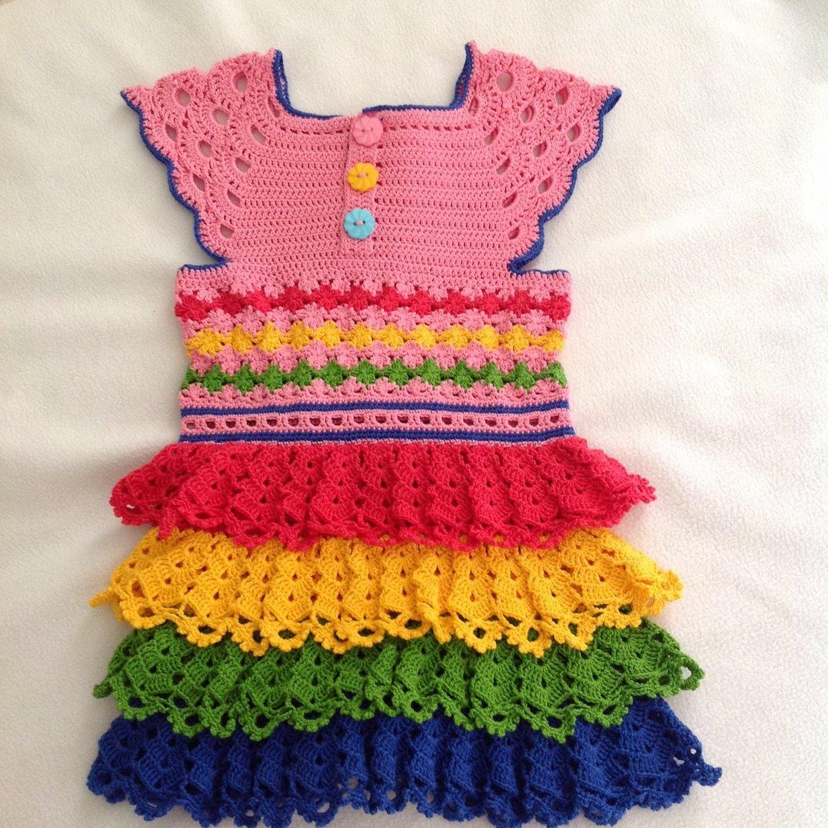 Вязание платья лужок 1 часть 62