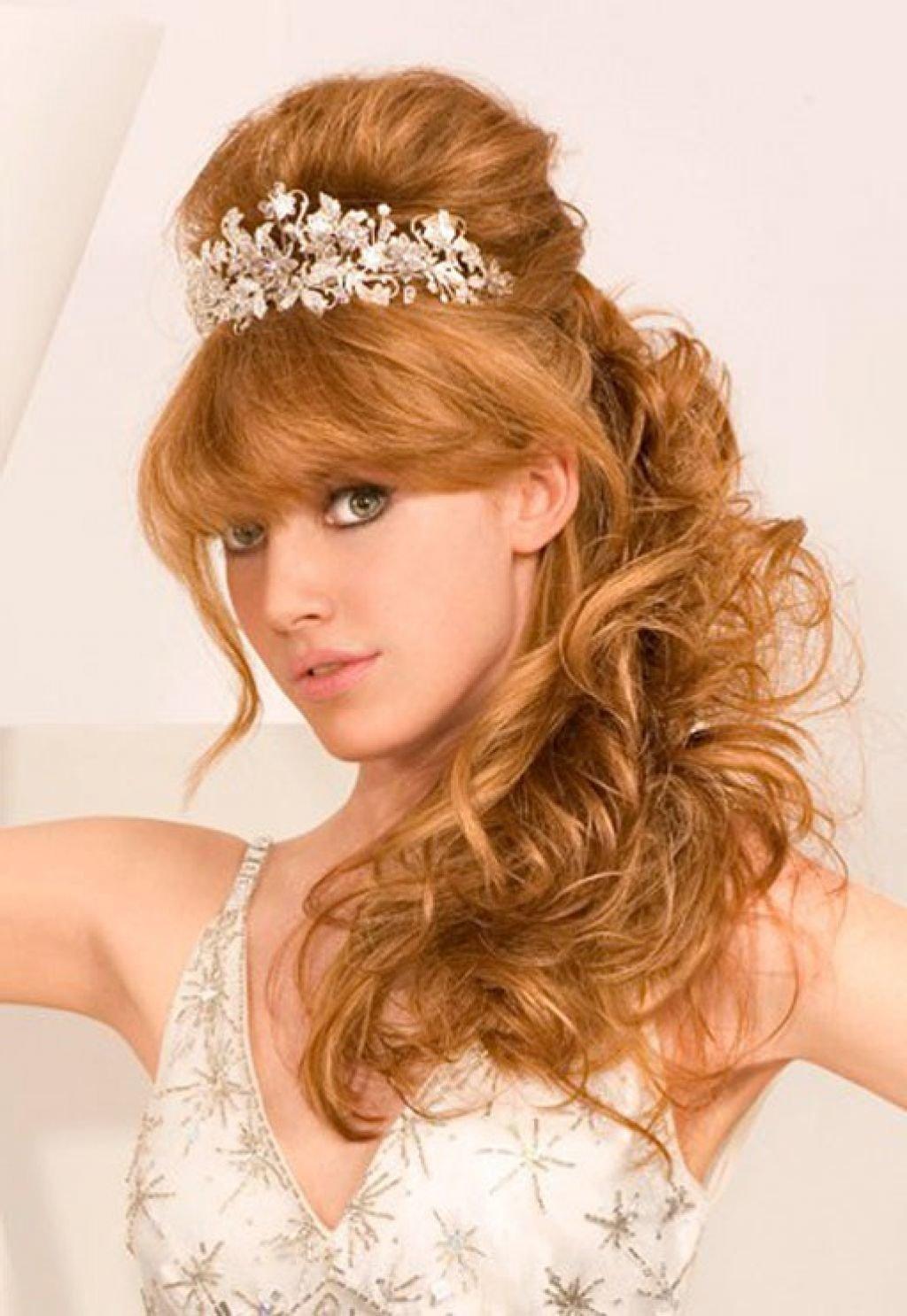 Причёски для длинных волос с чёлкой фото на свадьбу