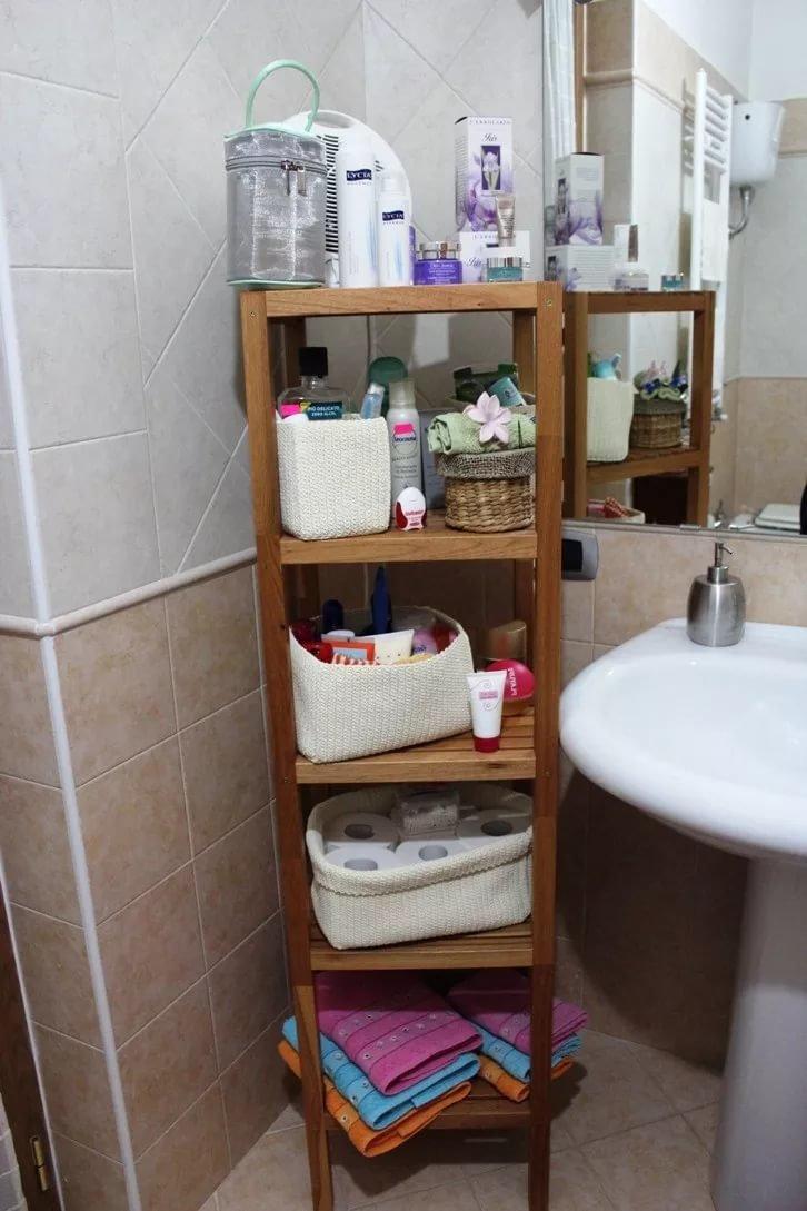 Стеллажи а ванной своими руками
