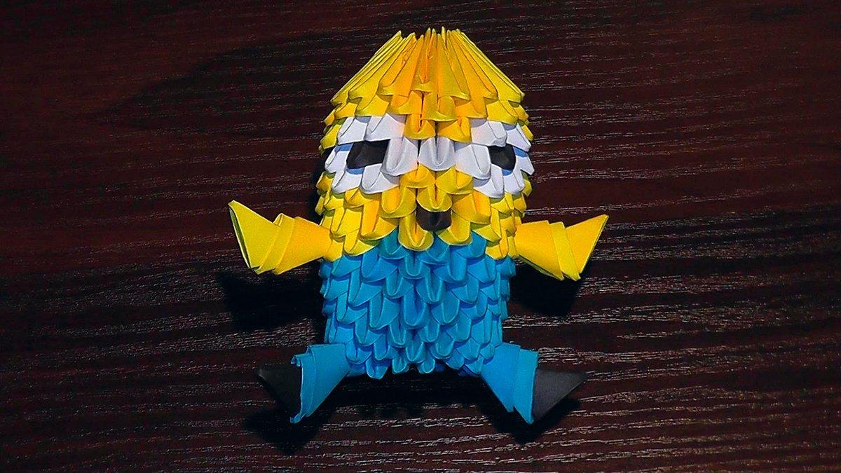 Лунтик из модулей оригами схема