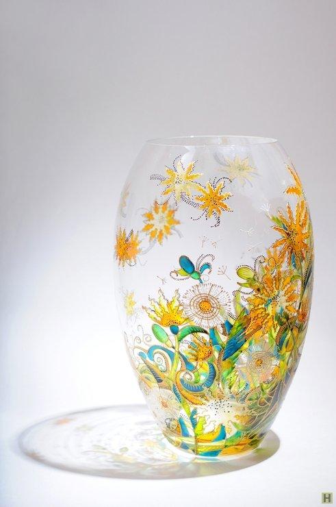 Раскраска стеклянной вазы