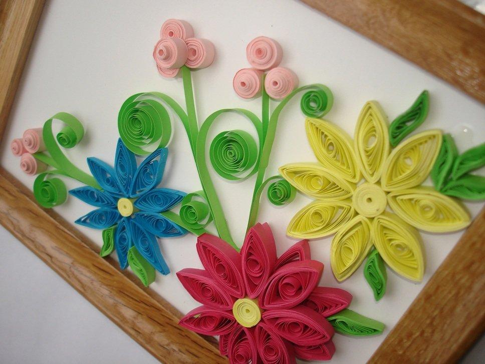 Квиллинг поделки цветов