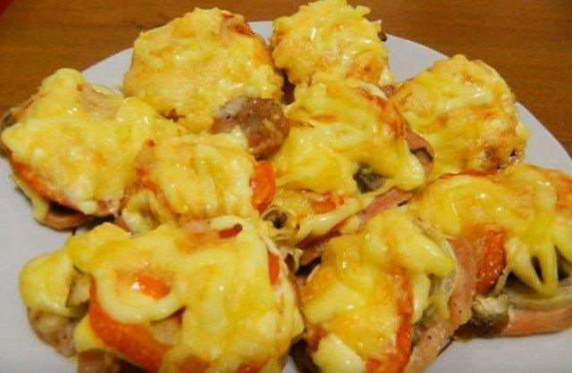Свинина с грибами в духовке пошаговый рецепт с фото