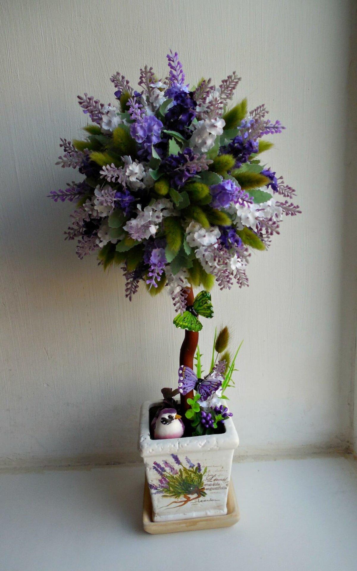 Большое дерево с цветами своими руками