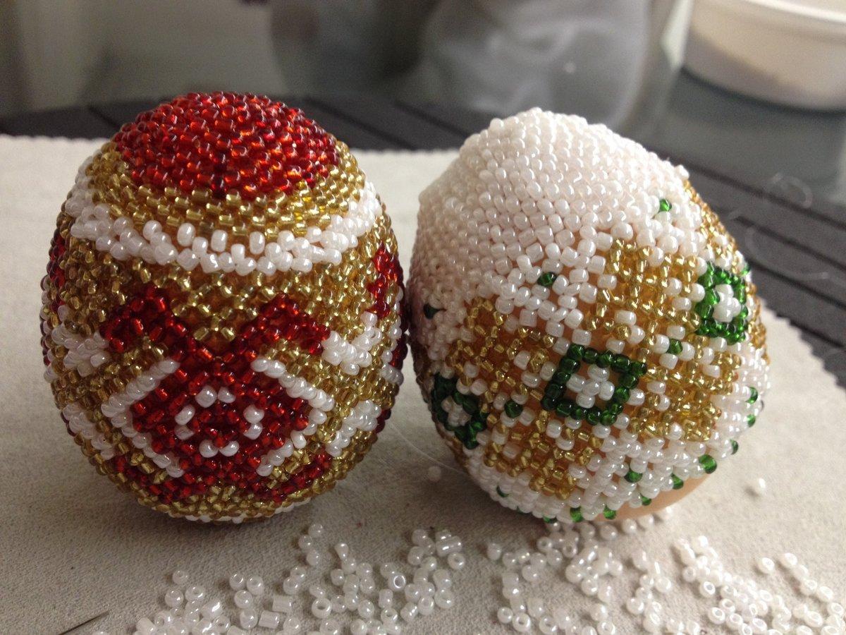 Бисероплетение пасхальное яйцо мастер класс с пошаговым фото