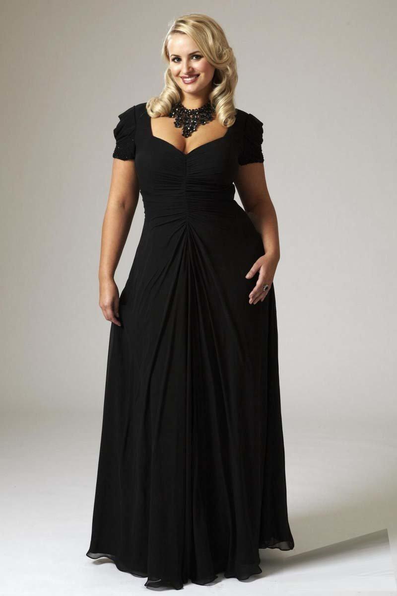 Модели вечерних платьев на полных для пошива