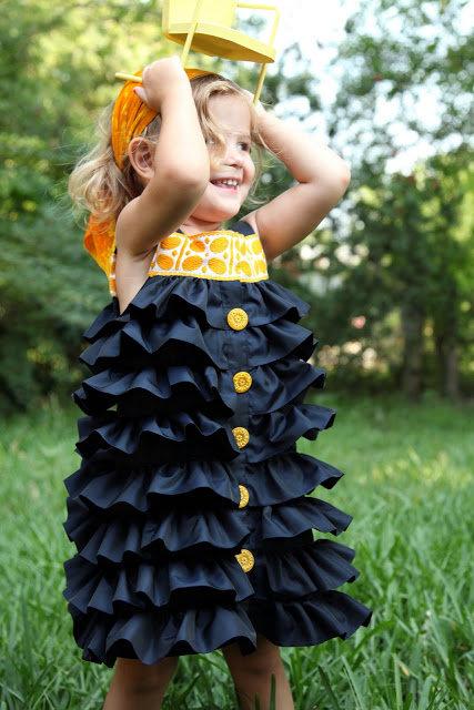 Детское платье с воланами как сшить 78