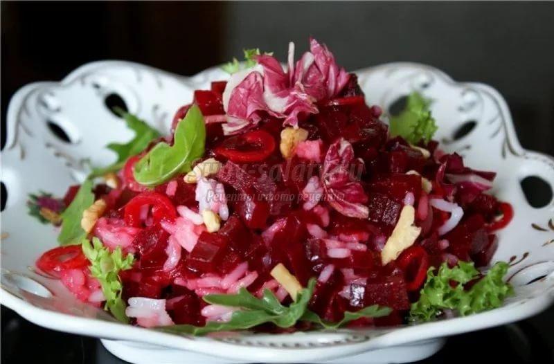 Свекла рецепт салата с пошаговыми