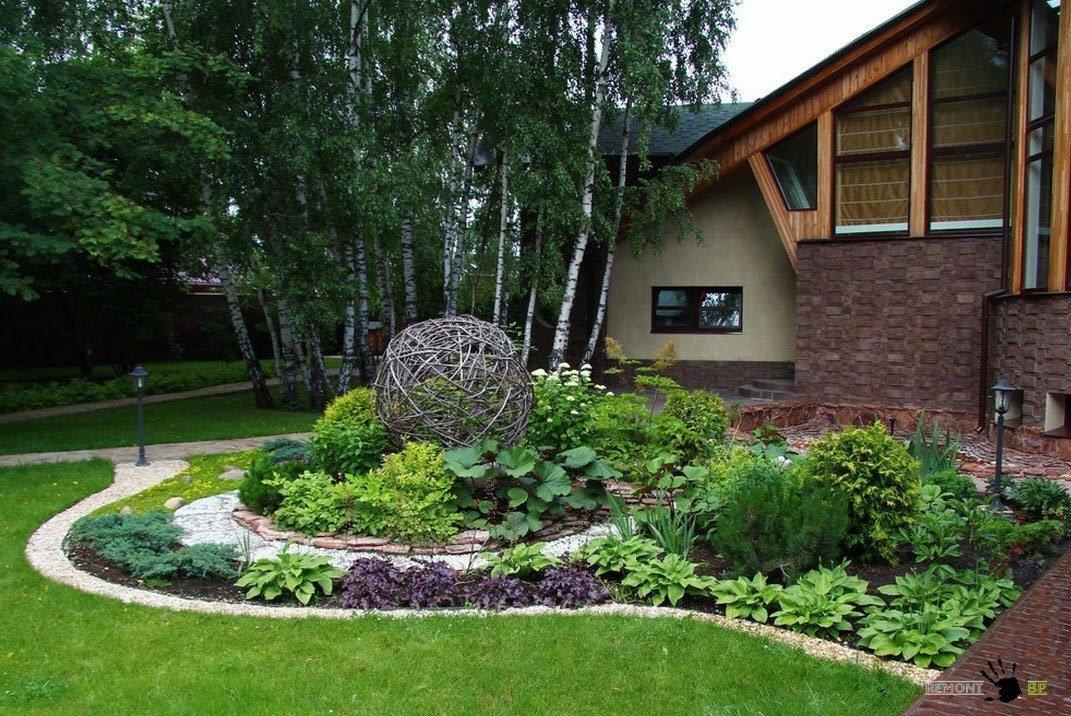 Дизайн двора частного дома фото современных дворов своими руками 372