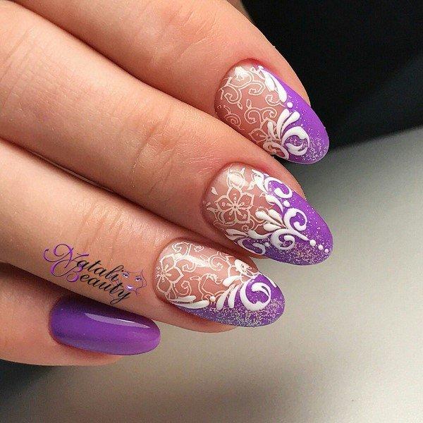 Дизайн ногтей френч со стразами 2017-2018