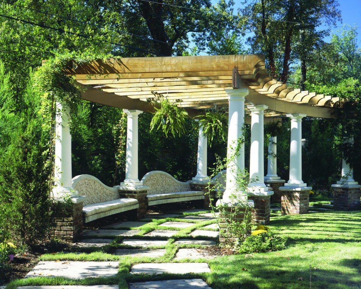 Беседку в саду дизайн