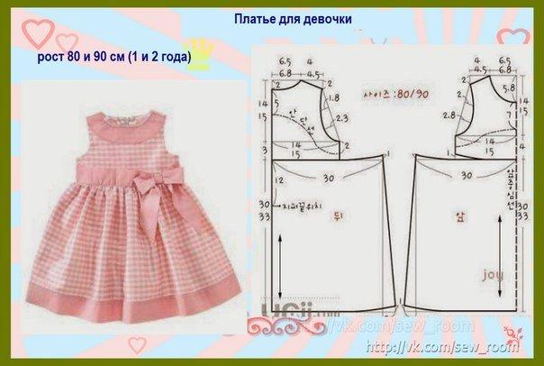 Платье на девочку 2 года сшить 5900