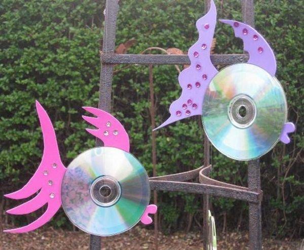 Пугало от птиц своими руками из дисков 87