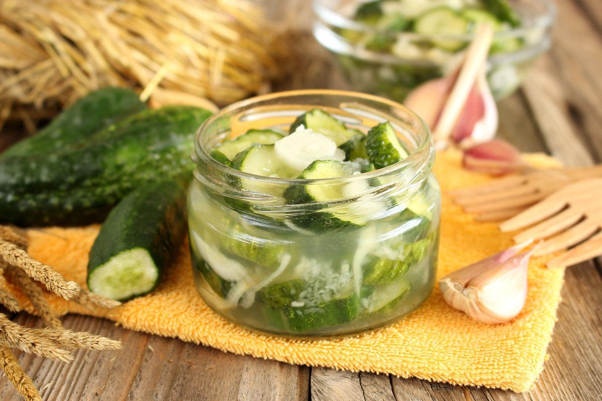 Рецепты салатов из огурцов без стерилизации