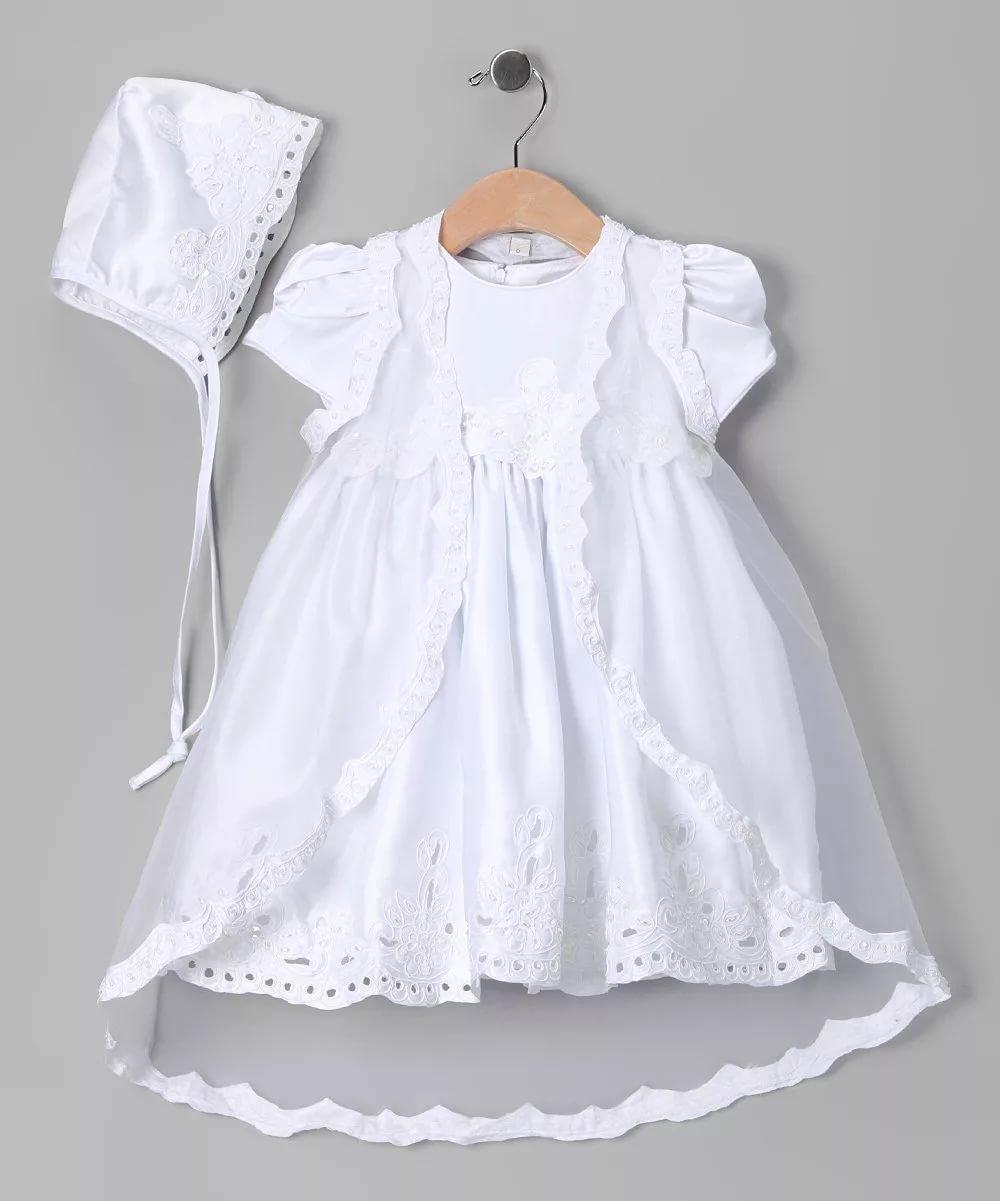 Нарядное крестильное платье для девочки своими руками 31