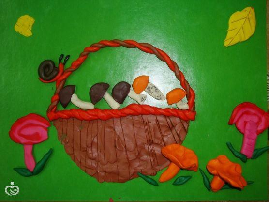 Поделки из пластилина в детский сад на тему осень 59