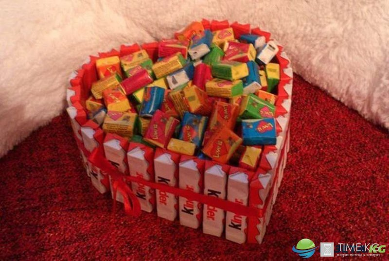 Оригинальные подарки с конфетами своими руками