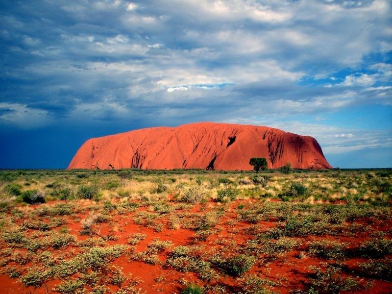 природа поле Улуру австралия скалы  № 586604 загрузить