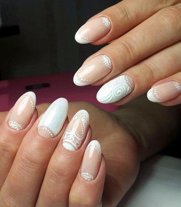 Свадебный маникюр на свои ногти 2017-2018