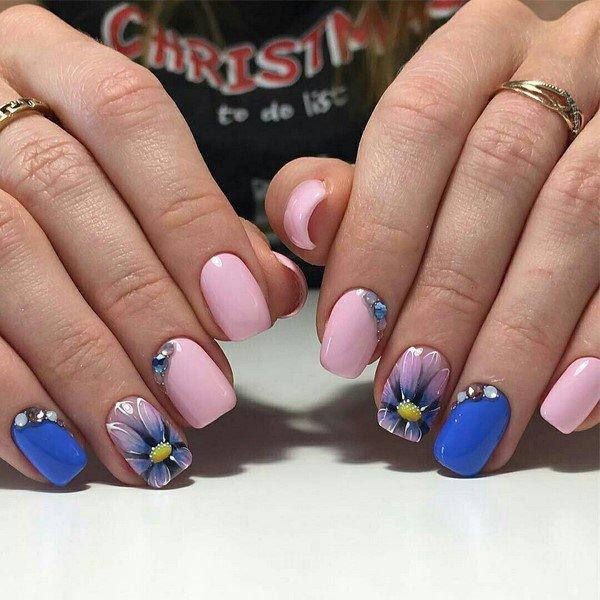 Рисунок на ногти лето 2017-2018 на короткие ногти