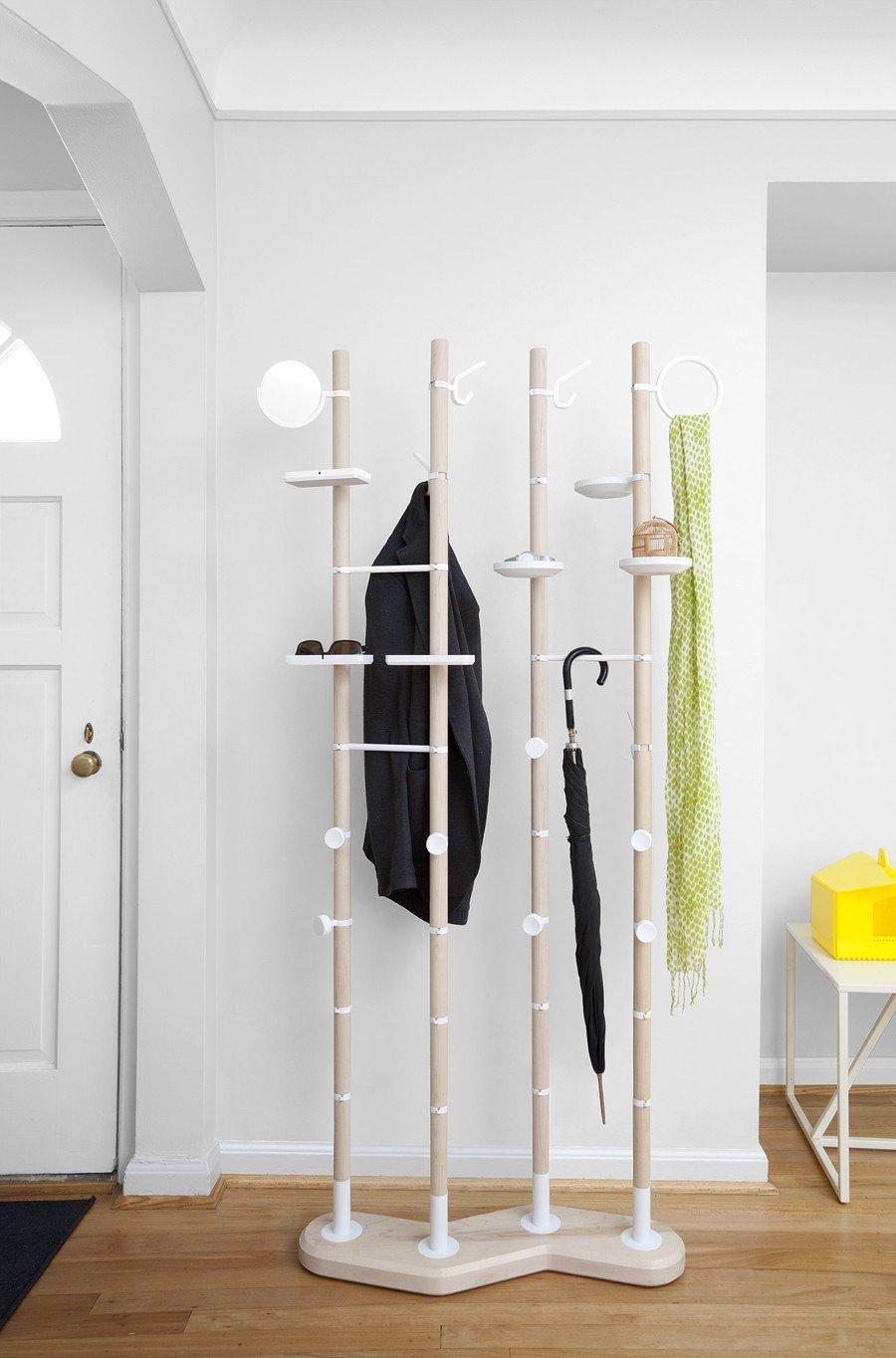 Вешалка напольная для одежды в прихожую своими руками