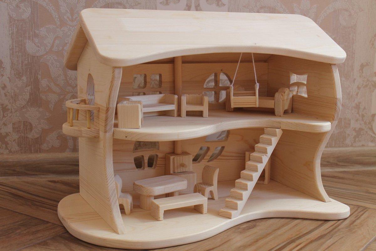 Игрушечный домик своими руками из дерева с размерами