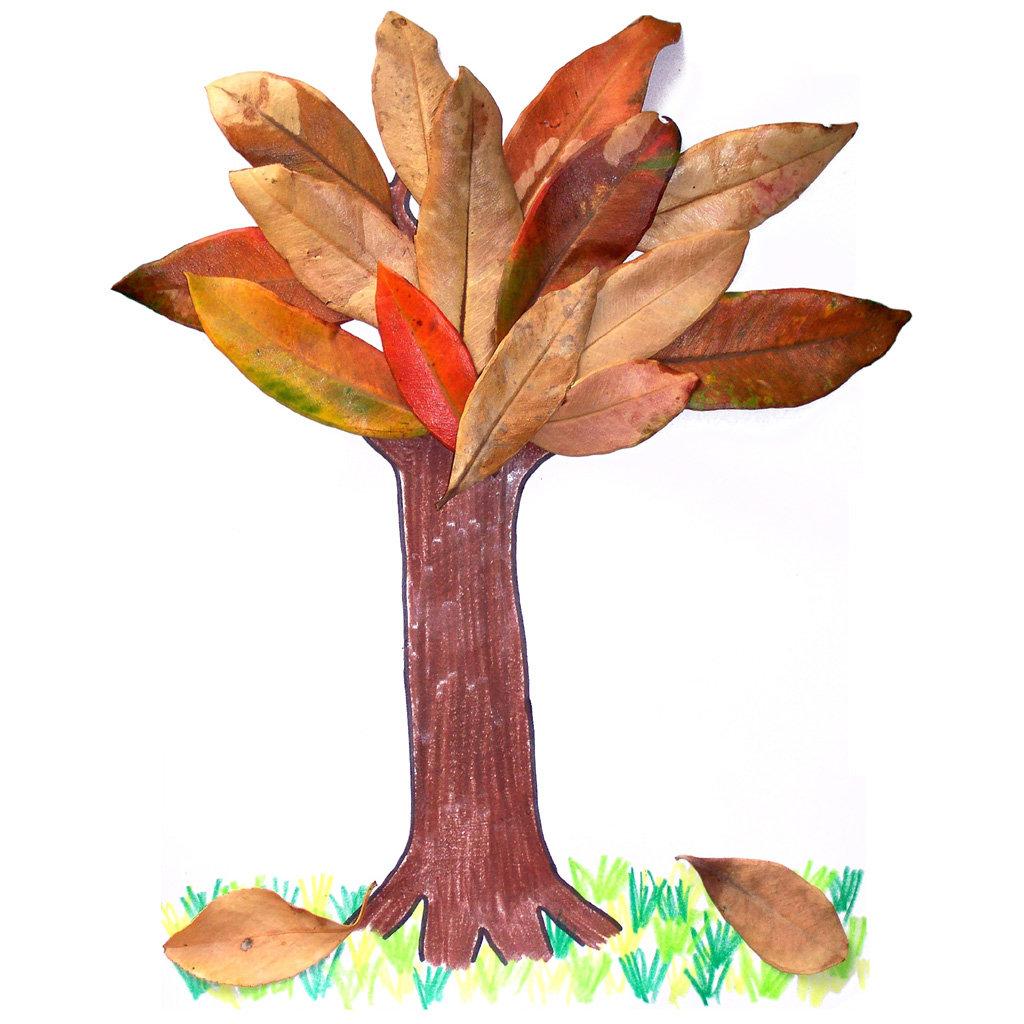 Как сделать дерево с листьями своими руками