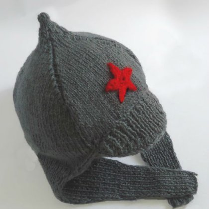 Вязание шапки будёновки 57