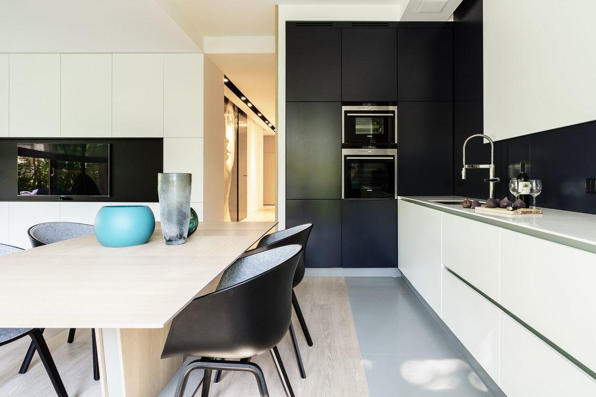 Дизайн кухни черно-белой фото 2018 современные идеи